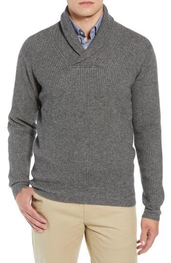 Peter Millar Mountainside Wool Blend Shawl Sweater