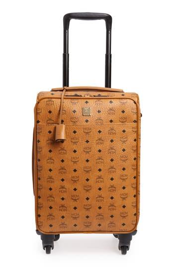 MCM Small Traveler Visetos 21-Inch Trolley Wheeled Suitcase