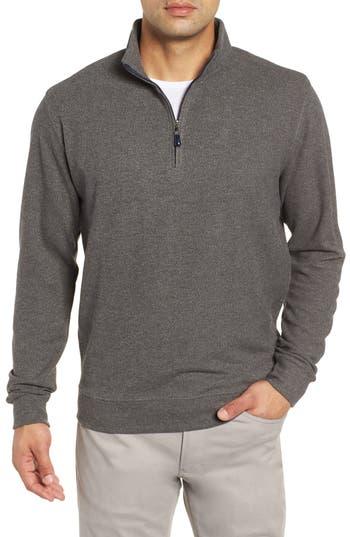 Peter Millar Mélange Fleece Quarter Zip Pullover