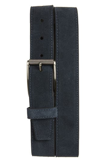 Image of Men's Big & Tall 1901 Colton Suede Belt, Size 46 - Navy Midnight