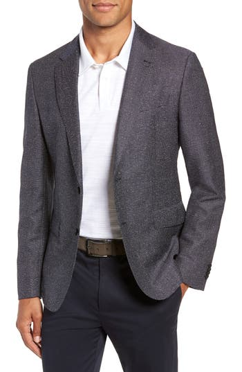 BOSS Nobis Trim Fit Stripe Wool Blend Sport Coat