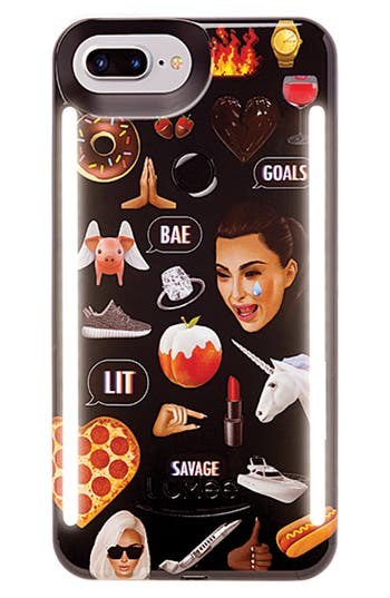 LuMee Kimoji Collage Lighted iPhone Case