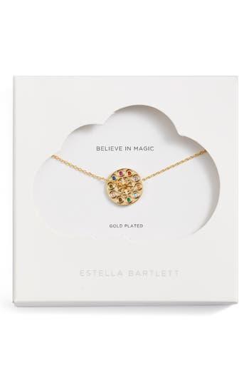 Estella Bartlett Spinning Kaleidoscope Pendant Necklace