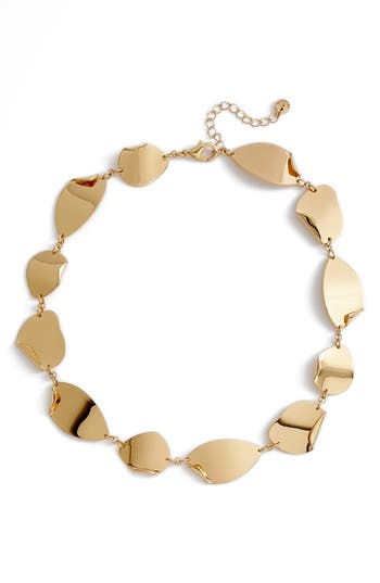 Halogen® Curved Metal Collar Necklace