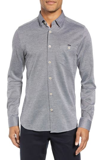 Ted Baker London Timothy Slim Fit Cotton Jersey Shirt