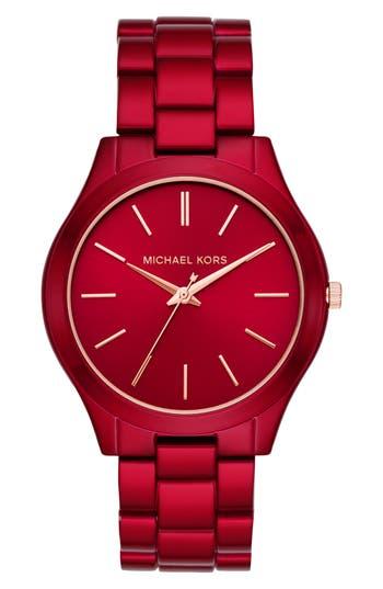 Michael Kors Slim Runway Bracelet Watch, 42mm