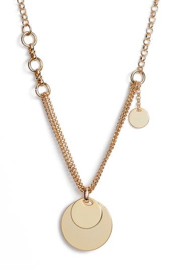 Something Navy Double Strand Disc Necklace