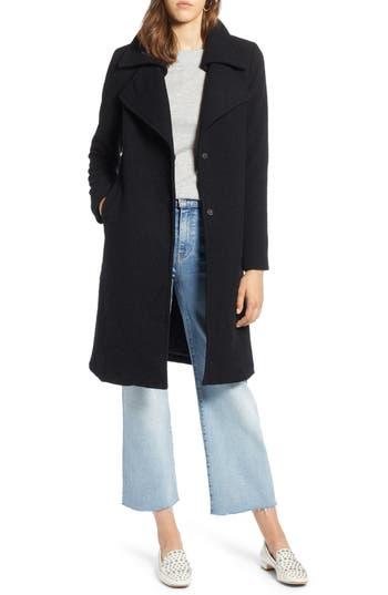 Halogen® Double Fold Collar Wool Blend Coat