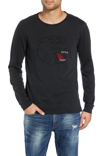 John Varvatos Cat Eyes Embroidered Sweatshirt