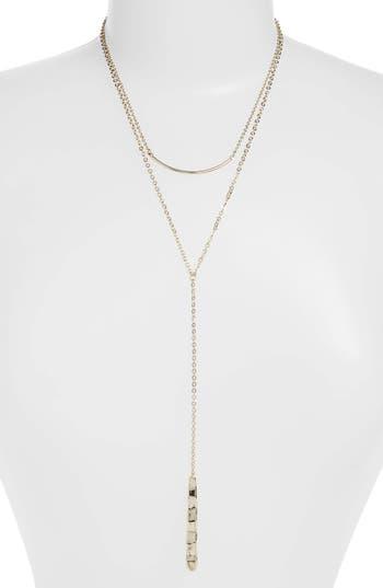 Halogen® Bar Multistrand Y-Necklace