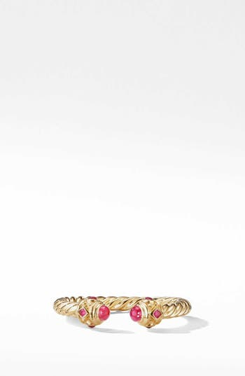 David Yurman Renaissance Full Pavé Ring in 18K Gold