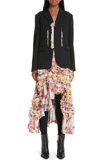 Comme des Garçons Floral Print Jacket Dress