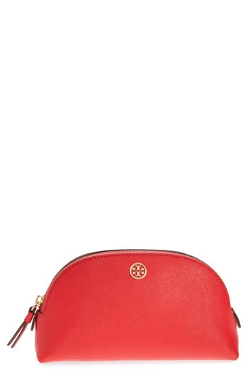 Tory Burch Robinson Small Leather Cosmetic Bag