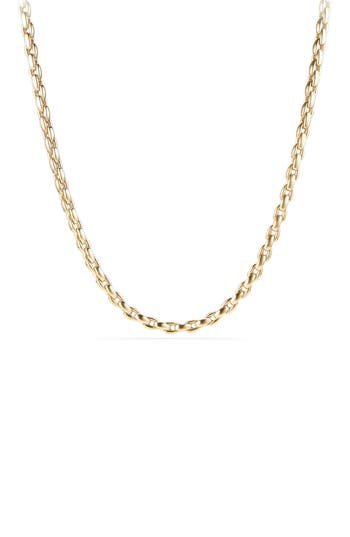 David Yurman Elongated 18K Gold Box Chain, 6mm