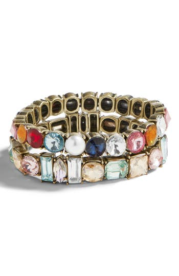 BaubleBar Set of 2 Crystal Stretch Bracelets