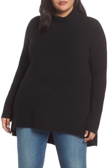 Halogen® High Low Oversize Wool Blend Sweater