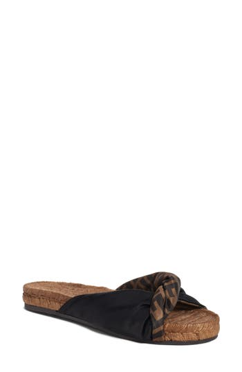 Fendi Double F Twist Slide Sandal