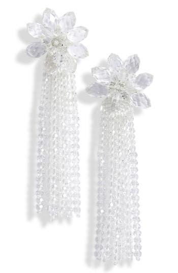 kate spade new york statement crystal tassel drop earrings