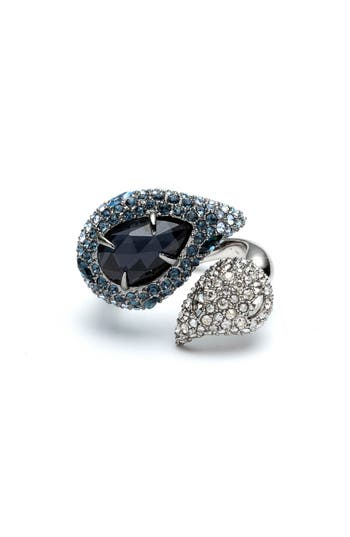 Alexis Bittar Winter Paisley Crystal Encrusted Ring