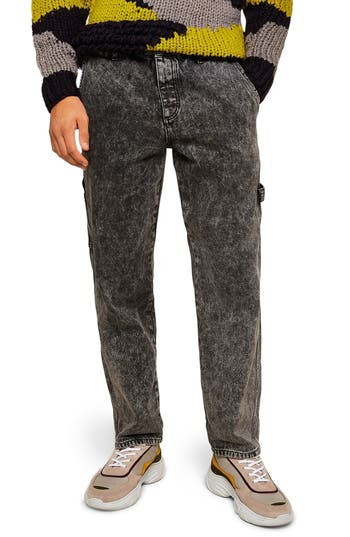 Topman Acid Wash Classic Carpenter Jeans