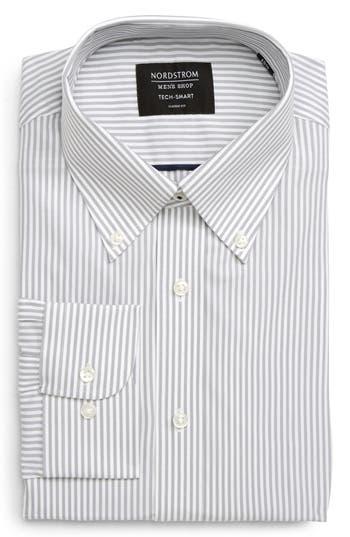 Nordstrom Men's Shop Tech-Smart Classic Fit Stretch Stripe Dress Shirt