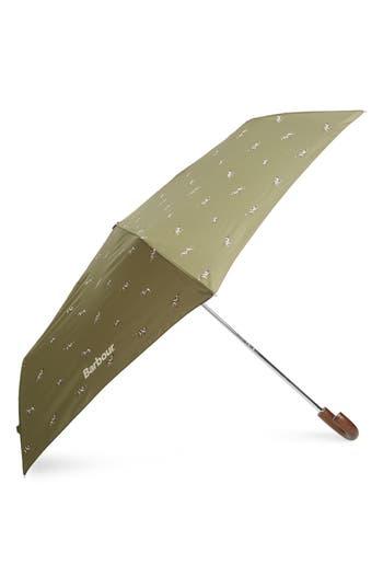 Barbour Dog Print Mini Umbrella