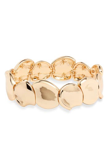 Halogen® Hacked Classic Medallion Stretch Bracelet