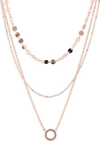 BaubleBar Adrielle Triple Strand Necklace