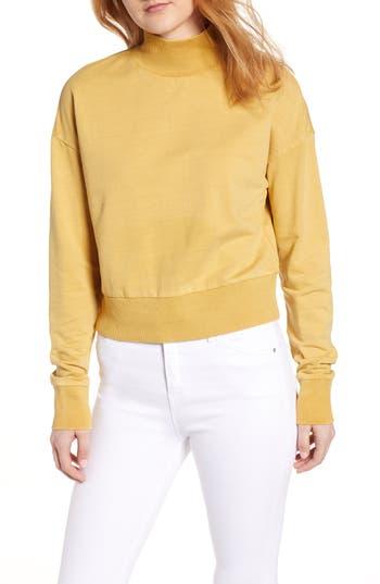 BP. Washed Mock Neck Sweatshirt
