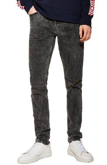 Topman Lightning Skinny Fit Stretch Jeans