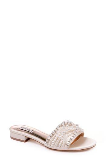 Badgley Mischka Florentina Embellished Slide Sandal