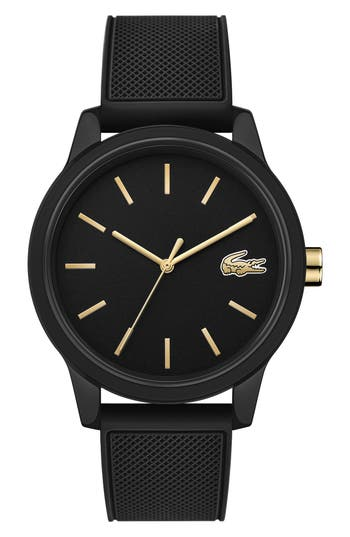 Lacoste 12.12 Rubber Strap Watch, 42mm