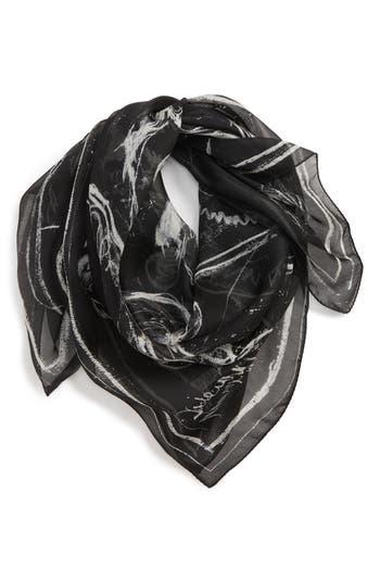 Alexander McQueen Graffiti Skull Silk Scarf