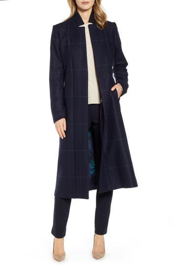 Ted Baker London Checked Tie Waist Trench Coat