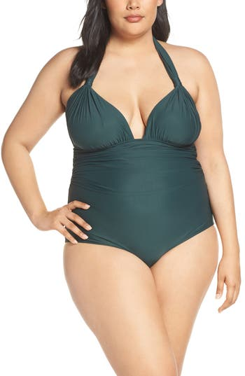 Lenny Niemeyer Adjustable Halter Maillot One-Piece Swimsuit