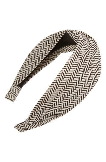 Tasha Knotted Herringbone Print Headband