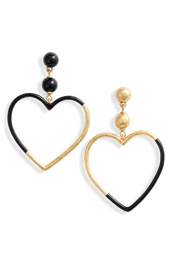 kate spade new york asymmetrical heart drop earrings