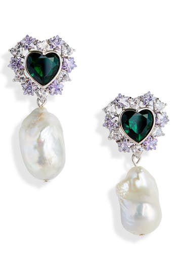 Jiwinaia Stellar Baroque Freshwater Pearl Earrings