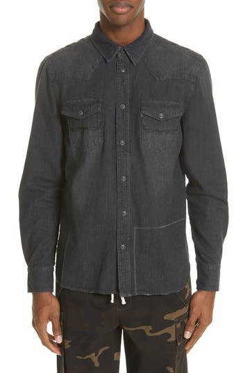 OVADIA & SONS Western Denim Shirt