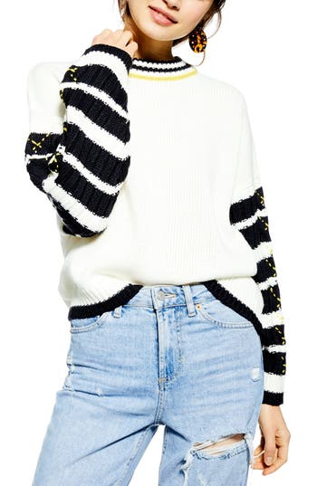 Topshop Whipstitch Pullover