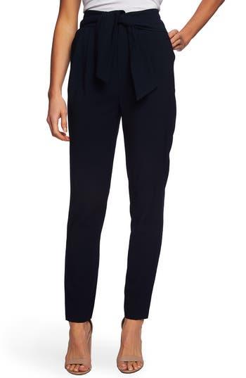 CeCe Tie Waist Straight Leg Pants
