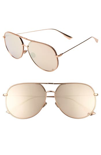 Dior 60mm Aviator Sunglasses