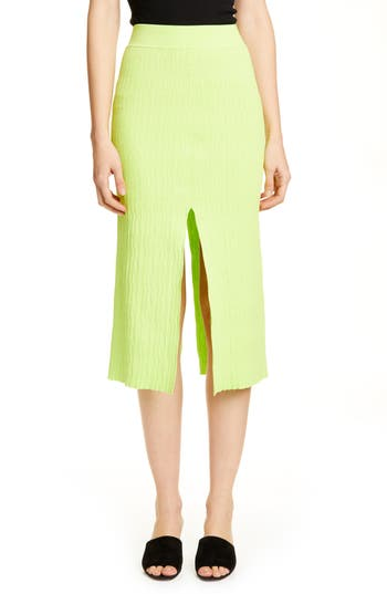 Simon Miller Slit Front Textured Pencil Skirt