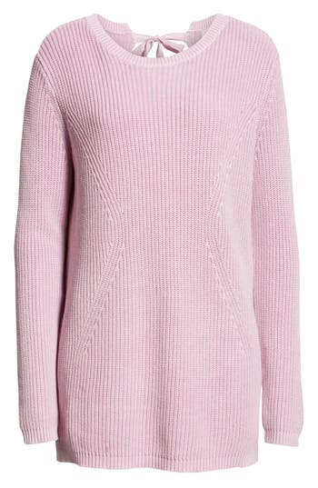 Caslon® Tie Back Tunic Sweater
