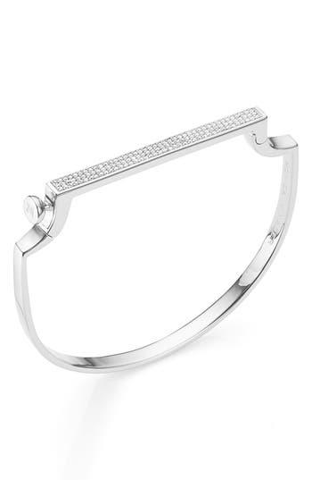 Monica Vinader Engravable Signature Thin Diamond Bangle