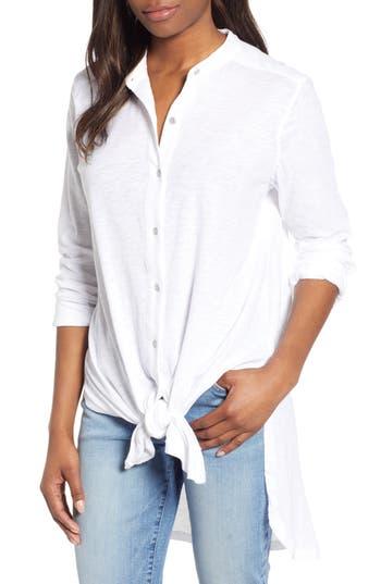 Caslon® Button Down Knit Tunic