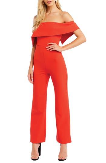 Bardot Zora Off the Shoulder Jumpsuit