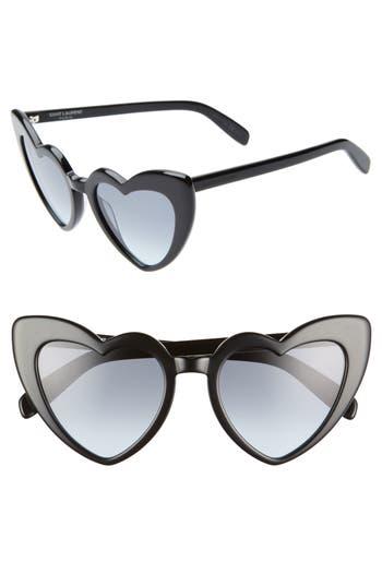 Saint Laurent Loulou 54mm Heart Sunglasses