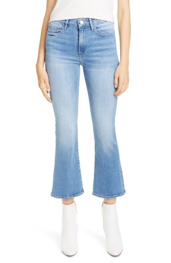 FRAME Le Crop Mini Boot High Waist Jeans