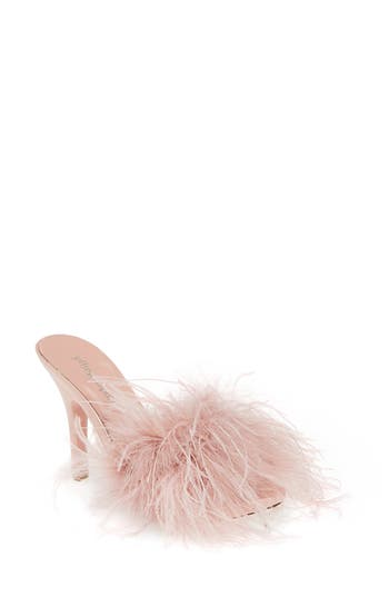 Jeffrey Campbell Candie Feather Slide Sandal (Women)